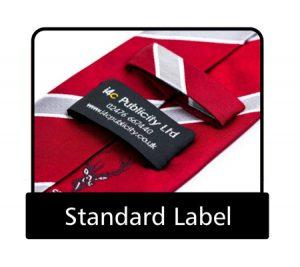 Tie Standard label