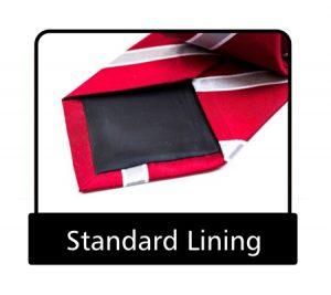 Tie standard lining