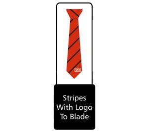 Tie stripes with logo