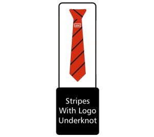 Tie stripe underknot with logo