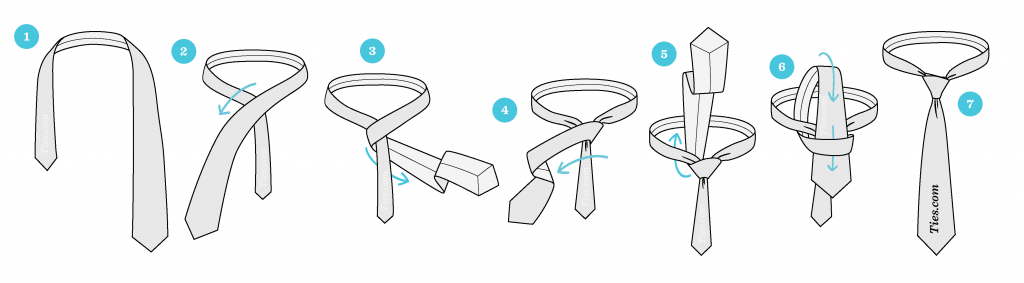 How to tie a tie graphic instructions