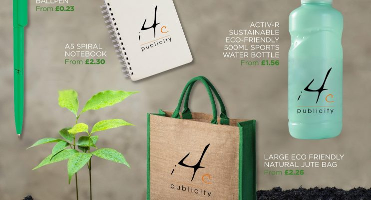 Eco Friendly bag, bottle, pen and notebook